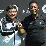 Pele và Maradona bỏ qua hiềm khích để hướng tới Euro