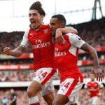 Walcott lập cú đúp, Arsenal bằng điểm với đầu bảng Man City