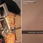 Fabregas gặp rắc rối vì đăng ảnh bánh pizza