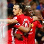 Ibrahimovic lập cú đúp, Man Utd thắng trận Pogba ra mắt