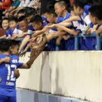 Quảng Ninh hạ CLB Sài Gòn bằng bàn thắng từ chấm 11m
