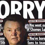 Báo hàng đầu nước Anh xin lỗi Van Gaal vì bị loại ở Champions League