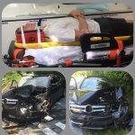 Cầu thủ của Leicester thoát hiểm sau cú đâm nát đầu xe hơi