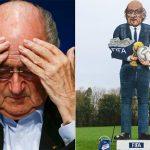 Dân Anh dựng hình nộm khổng lồ của Sepp Blatter để đốt