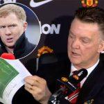 Van Gaal: 'Scholes được trả tiền khi chê Man Utd'