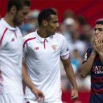 Trượt ngã trước Sevilla, Barca rơi xuống thứ tư Liga